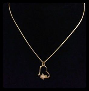Heart and Butterfly Necklace